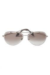 Солнцезащитные очки в светлой оправе Victoria Beckham