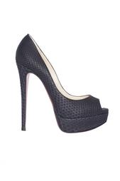 Туфли из кожи питона Lady Peep 150 Python Mat Christian Louboutin