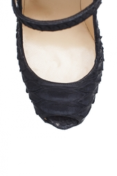 Туфли из кожи питона Lady Highness 160 Python Mat Christian Louboutin