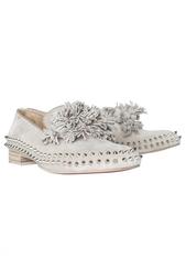 Кожаные ботинки Tassel Spikes Flat Veau Velours Christian Louboutin