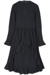 Платье из черной органзы (80-е гг.) Albert Nipon Vintage