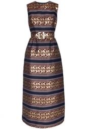 Платье в пол из парчи Vintage No Names