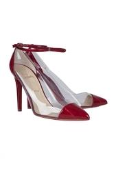 Кожаные туфли Un Bout 100 Eel/Pvc Christian Louboutin