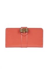 Кожаный кошелек Sc Long Wallet Patent Calf Christian Louboutin