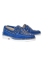 Замшевые топсайдеры Yacht Spikes Woman Flat Crosta Christian Louboutin