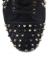 Кожаные кеды Louis Woman Flat Calf/Spikes Christian Louboutin