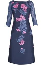 Платье из хлопка и шелка Erdem