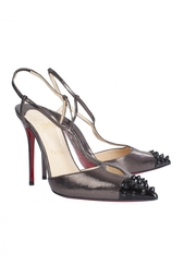 Кожаные туфли Geotistrap 100 Facette Laminata/Patent Toe Christian Louboutin