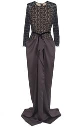 Платье из вискозы и шелка Roland Mouret