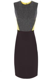 Платье из шерсти и шелка Victoria Beckham