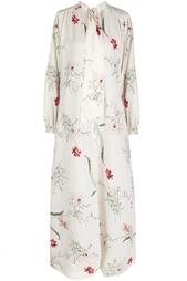 Шелковое платье (70-е) Christian Dior Vintage