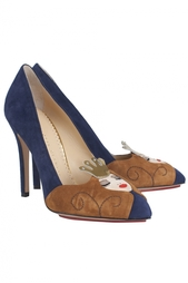Замшевые туфли Sleeping Princess Charlotte Olympia
