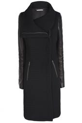 Хлопковое пальто Lulu Tech Boucle Full Length Diane von Furstenberg
