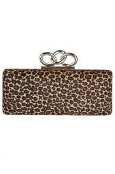 Кожаный клатч Sutra Leopard Haircalf Diane von Furstenberg