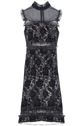 Платье из вискозы и шелка Erdem