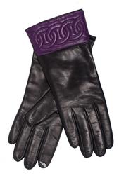 Кожаные перчатки Quilted Sutra Chain Cuff Glove Diane von Furstenberg