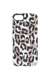 Чехол для iPhone 5 Leopard  Brown/Black Diane von Furstenberg