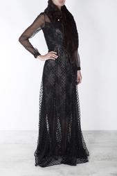 Платье из искусственного шелка Erdem