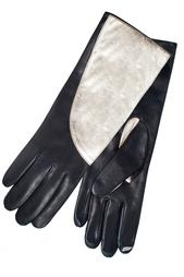 Кожаные перчатки Asymmetrical Clrblk Glove Diane von Furstenberg