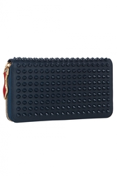 Кожаный кошелек Panettone Wallet Calf Paris/Spikes Christian Louboutin