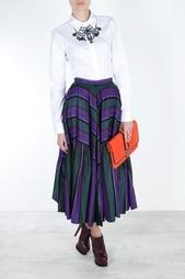Шелковая юбка 80е Chanel Vintage