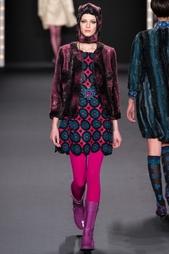 Платье из искусственной шерсти Anna Sui Vintage