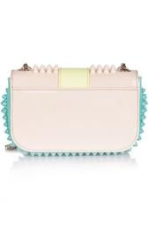 Кожаная сумка Sweety Charity NU Patent Calf/Spikes Christian Louboutin