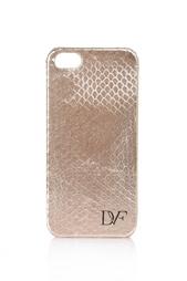 Чехол из змеиной кожи для iPhone 5/5S Diane von Furstenberg