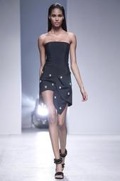 Платье из искусственного шелка Anthony Vaccarello
