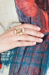 Кольцо из латуни и кристаллов Anton Heunis