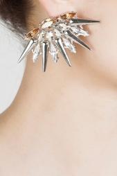 Серьги из металла и кристаллов Anton Heunis