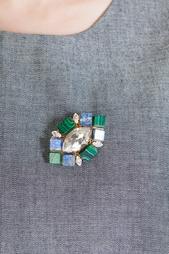 Брошь из латуни и полудрагоценных камней Anton Heunis