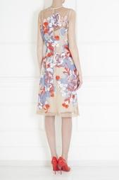 Платье из вискозы и шелка Jonathan Saunders