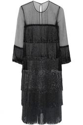 Шелковое платье Naeem Khan