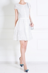 Платье из хлопка и шелка Alice + Olivia
