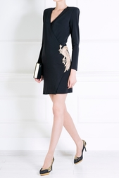 Платье из вискозы Balmain