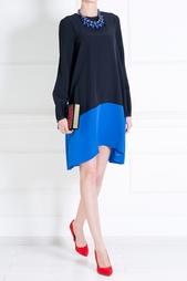 Платье из вискозы и ацетата Victoria by Victoria Beckham