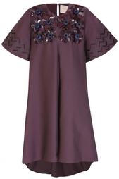 Платье из хлопка с вискозой Roksanda