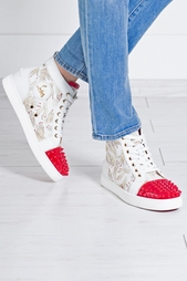 Тканевые кеды Lou Spikes Woman Christian Louboutin