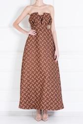 Платье из полиэстера и хлопка Delpozo