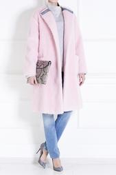 Пальто из шерсти и хлопка Rochas