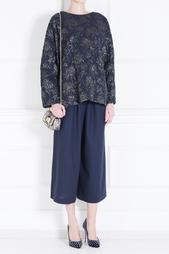 Шерстяные брюки-кюлоты Minos Mother of Pearl