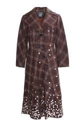 Приталенное пальто с серебряными пайетками Libertine
