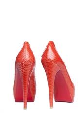 Красные Питоновые туфли Altadama с открытым носом Christian Louboutin