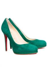 Зеленые Замшевые туфли New Simple Pump Christian Louboutin
