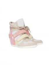 Разноцветные кроссовки на шнуровке со скрытым каблуком Bixi - нет в наличии ASH