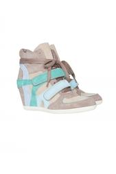 Разноцветные кроссовки со скрытым каблуком и на шнуровке Bixi ASH