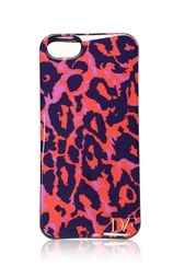 Чехол для iPhone 5/5S Vintage Leopard Large Red Diane von Furstenberg