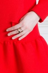 Бронзовое кольцо с лунным камнем Pamela Love