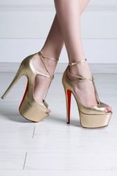 Туфли из металлизированной кожи Talitha 160 Christian Louboutin